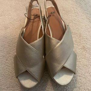 Brand new H&M platform sandals